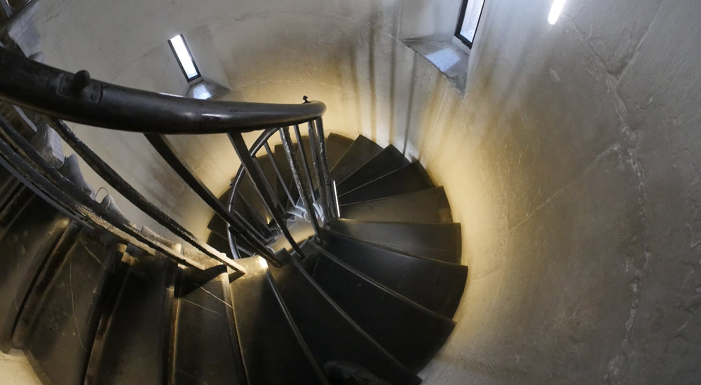 The Monument stairs in the City of London